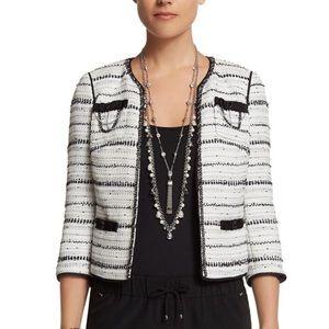 WHBM NWOT white tweed blazer sz 8